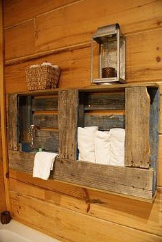 pallet -  I am so in love with this idea