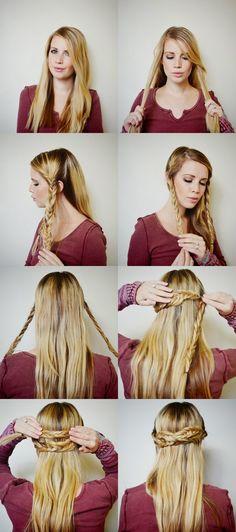 Hairspiration Tutorial: The Half-Braided Up-Do
