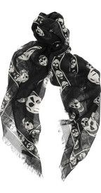 Alexander McQueen Skull-impresión modal y bufanda de cachemira-mezcla