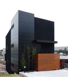 black facade, arquitectura, black walls, buildings, cubes