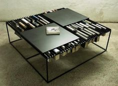 Coffee table with book slots! #table #decor #design
