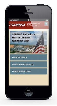 The SAMHSA Disaster App makes it easy to provide quality [evidence based] support to survivors; navigate pre-deployment preparation, on-the-ground assistance, post-deployment resources, and more
