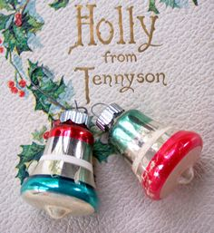Vintage Mercury Glass Bell Ornaments