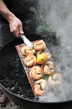 Shrimp on the Barbie, as the Australian's say        -       Hmmm! we don't actually (sez MM),  we call them PRAWNS!  Only Paul Hogan in his Overseas promotional adverts for visiting Australia called them shrimp.