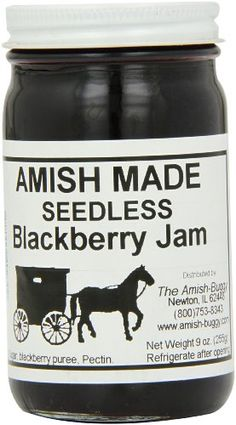 Amish Buggy Jam, Seedless Black, 9 Ounce (Pack « Lolly Mahoney