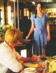 Katniss & Peeta on the Train My Hunger Games