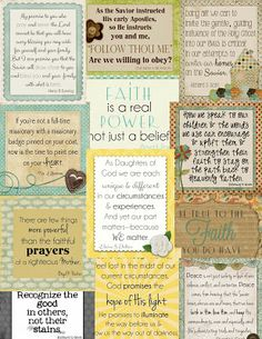 Little LDS Ideas: {Conference Preserves} April 2013 Conference Quote Cards