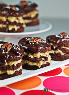 mini german chocolate cakes