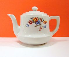 Wildflower Hall China Teapot or Coffee Pot Hall by HappyHippieShop,