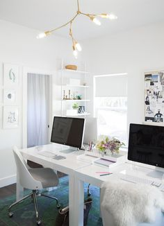 Workspace | Camille Styles Studio | Office Space, photo by Jessica Pages