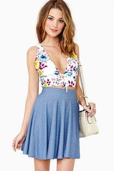 Winona Floral Halter Top.  love the halter, not that skirt
