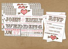 Antique Wedding Invite. $3.00, via Etsy.