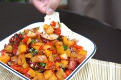 Grilled Peach and Chipotle Salsa