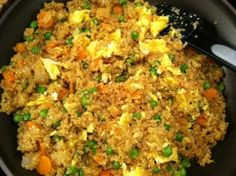 Fried (Quinoa) Rice! Great for Weight Watcher's Simple Start!