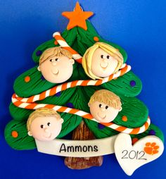Polymer Clay custom made Christmas ornament