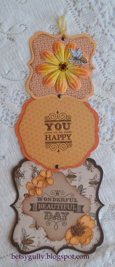 telescoping card by Betsy Gully using CTMH Buzz and Bumble paper