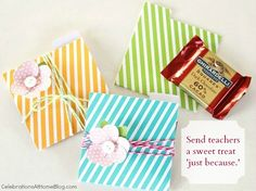Craft It Forward with DIY Gift Packaging gift wrap, chocolate gifts, diy candi, gift packaging, candy crafts, diy gifts, gift cards, teacher, craft ideas
