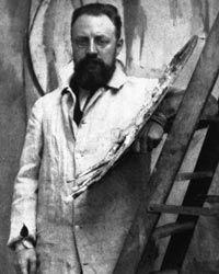 Matisse in his Paris studio.    Alvin Langdon Coburn/Getty Images