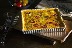 GLUTEN-FREE HEIRLOOM TOMATO TART W/MASCARPONE CRUST from Smith Bites