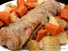 pork roast, pork tenderloin, crock pots, crock pot pork, crockpot pork, gluten free flour, dinner tonight, meal, slow cooker pork