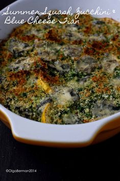 Summer Squash, Zucchini & Blue Cheese Tian #MeatlessMonday