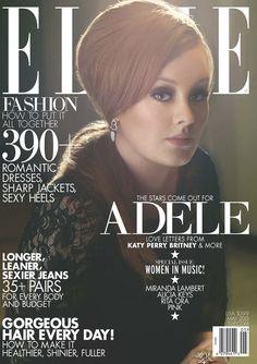 """Olha só quem está de volta! Adele é a capa de maio da Elle, edição anual feita especialmente para as mulheres da música!  Para o ensaio da revista, a cantora esteve nos estúdios """"EastWest Studios"""", lugar onde Frank Sinatra gravou seus grandes sucessos!  Que tal ouvirmos um sonzinho dela?   http://www.youtube.com/watch?v=rYEDA3JcQqw"""