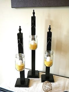 Posts for hanging mason jars.