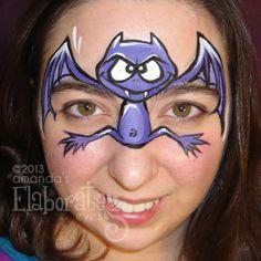 maquillag enfant, animals, paint idea, animal faces, face paintings, bats, facepaint, halloween, face painting designs