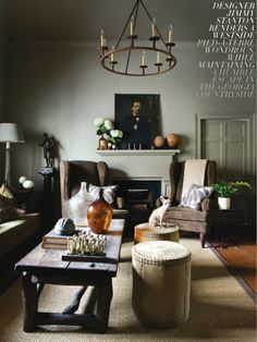 masculine living room.