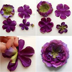 Make flowers from other silk flower petals.