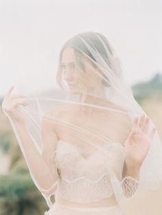 Blush coastal wedding inspiration | Photo by Fine Art Photography | Read more - http://www.100layercake.com/blog/?p=74029