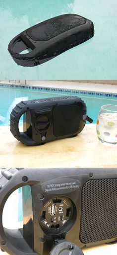 Not only can the EcoXGear EcoStone Bluetooth survive being wet, it can also float on water and will still work even when under three feet underwater.