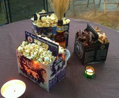 Serve snacks in beer boxes for a beer tasting party!