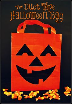 An easy duct tape Halloween bag to make. #duct tape, #halloween