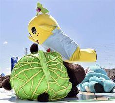 """ゆるキャラ""""虎の穴"""" プロレスで「ふなっしー」優勝 尼崎「ちっちゃいおっさん」は準決勝で涙"""