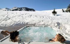 Snow, Jacuzzi & Champagne, who would jump in? :D