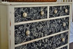 Dresser Makeover With Fabric!