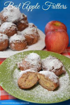 We always enjoy these wonderful Apple #Fritters every time we are on vacation in Gatlinburg, TN at The #Apple Barn Restaurant. http://recipesforourdailybread.com/2012/10/02/best-apple-fritters-tn/ #fall #autumn #apples