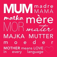Say Happy Mother's Day in Many Different Languages