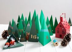 Make a Geometric Tree Advent Calendar on Etsy