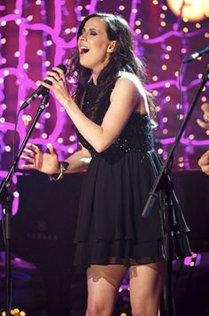 """Singer Joy Williams of grammy-winning band, """"The Civil War"""" wearing Abyss by Abby's dress in black to her VH1 concert on May 1, 2012. She looks gorgeous!"""