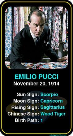 Celeb #Scorpio birthdays: Emilio Pucci's astrology info! Sign up here to see more: https://www.astroconnects.com/galleries/celeb-birthday-gallery/scorpio?start=150  #astrology #horoscope #zodiac #birthchart #natalchart #emiliopucci