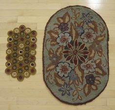 20th century rug and penny mat