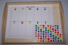 Shape sorting using stickers