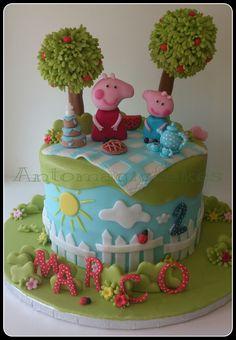 Peppa pig cake!