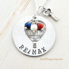 RE/MAX realtor necklace Remax agents Reality real by JewelMango on etsy