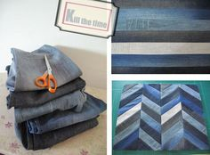 TUTORIAL denim chevron
