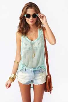 Seabreeze Knit Tank in What's New at Nasty Gal