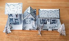 Winter-Time Paper House Pack! » twelve22