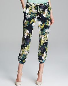 Adrianna Papell Print Drawstring Pants